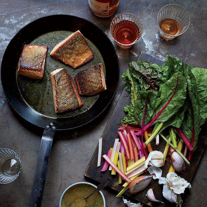 Salmon recipes best recipe ideas for salmon food wine crispy salmon with wilted chard forumfinder Image collections