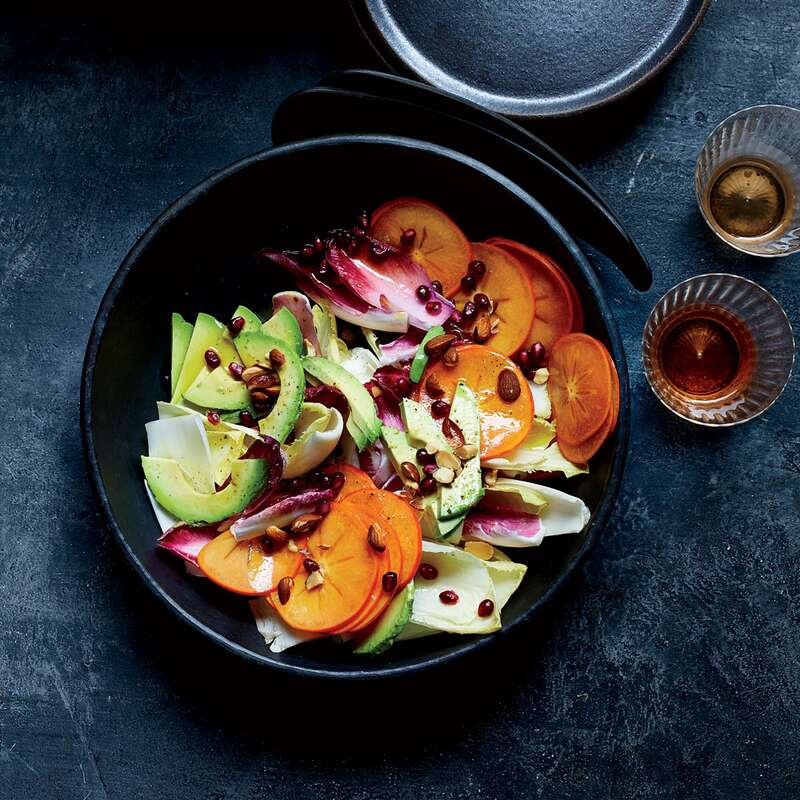 Persimmon-and-Endive Salad with Honey Vinegar and Avocado Oil Vinaigrette