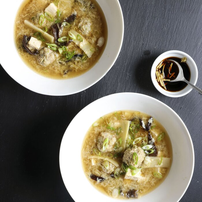 Hot and sour meatball soup recipe laura rege food wine hot and sour meatball soup forumfinder Choice Image