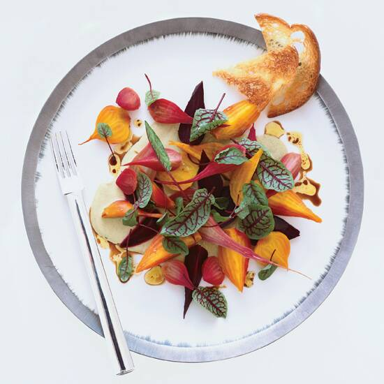 Beet–and–Red Sorrel Salad with Pistachio
