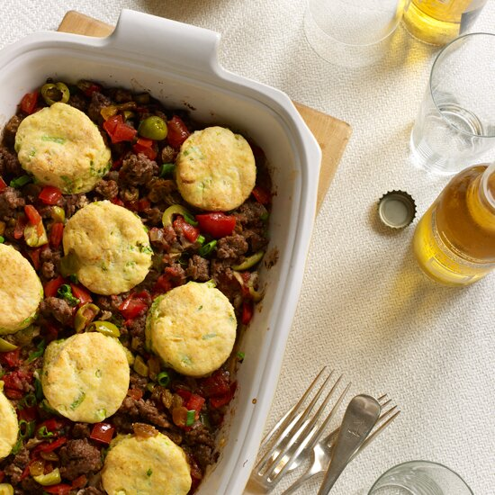 Ground beef recipes easy recipes with ground beef food wine cuban beef casserole with corn scallion biscuit topping forumfinder Gallery