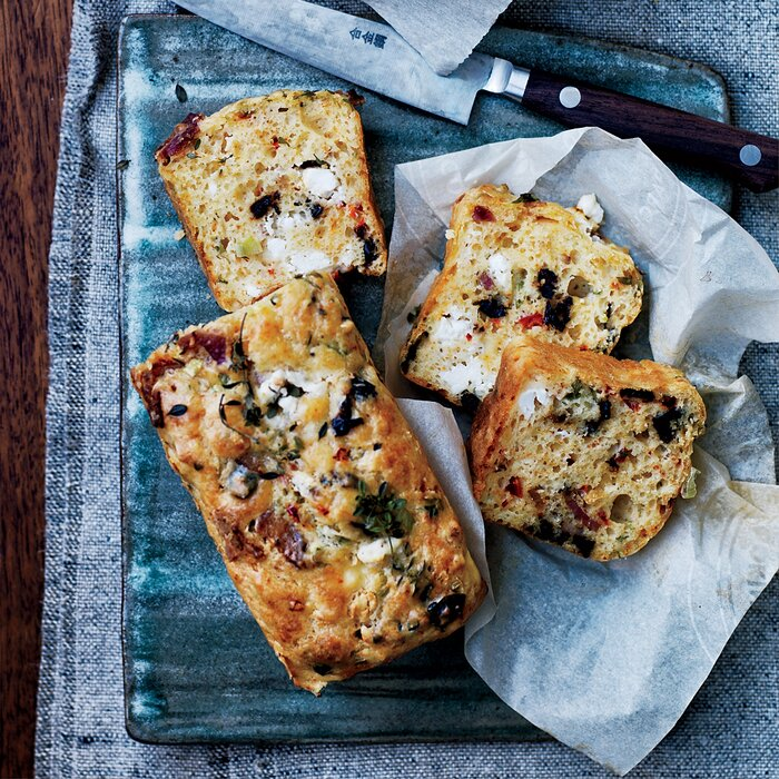 Goat cheese bacon and olive quick bread recipe david lebovitz goat cheese bacon and olive quick bread forumfinder Image collections