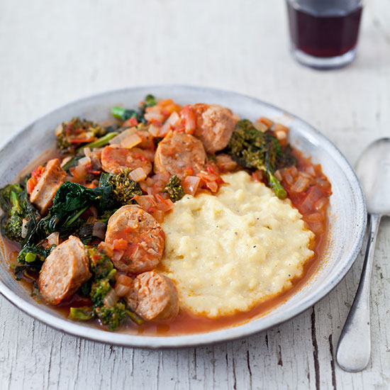 Sausage and Broccoli Rabe with Polenta