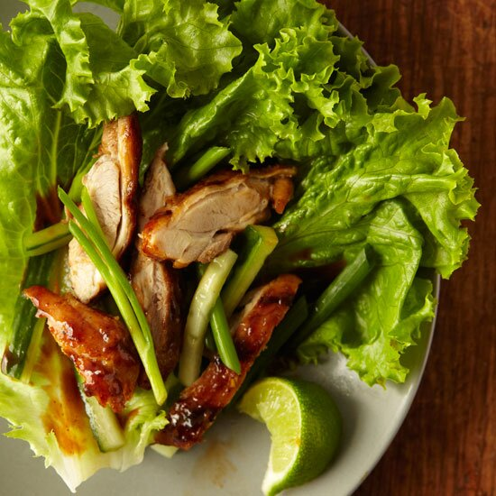 Healthy asian recipes food wine korean style chicken wraps forumfinder Choice Image