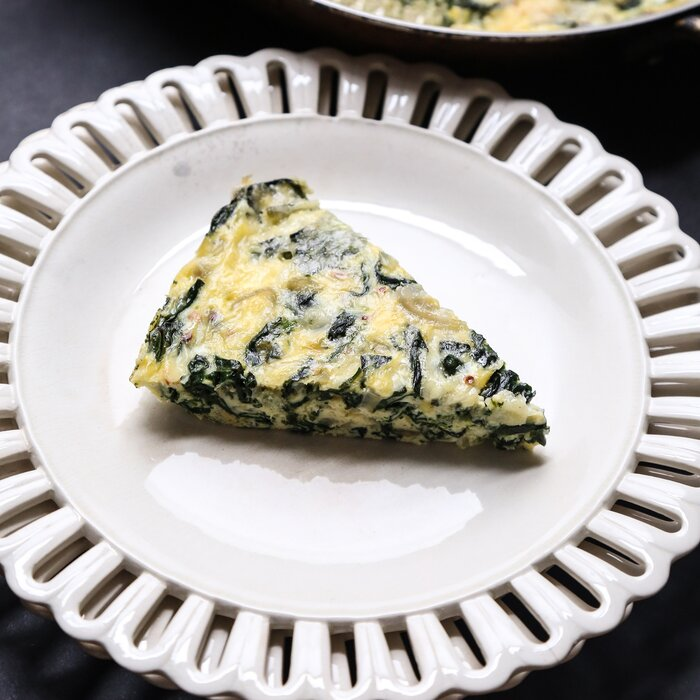 Crustless spinach quiche recipe phoebe lapine food wine crustless quiche with spinach and shallots forumfinder Image collections