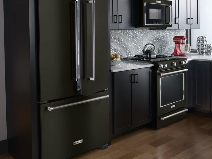 Look at These Beautiful Matte Black Major Appliances: Refrigerator ...