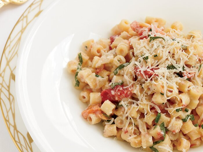 Creamy Pasta With Tomato Confit And Fresh Goat Cheese Recipe