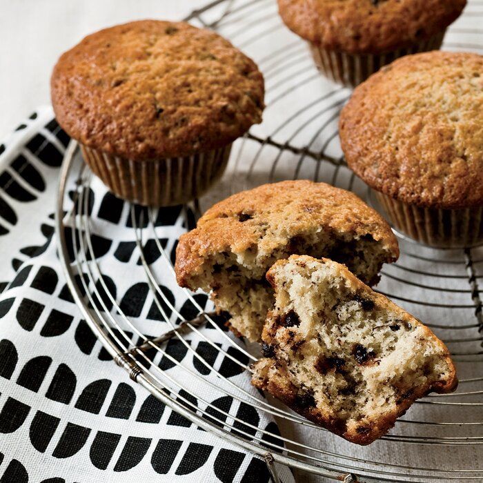 Chocolate chip and banana muffins recipe grace parisi food wine 200912 r banana chocolate muffinsg forumfinder Image collections