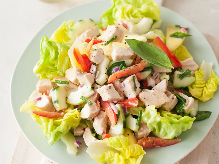 Chicken salad with cucumber red pepper and honey mustard original chicken salad cucumber qfsg forumfinder Gallery