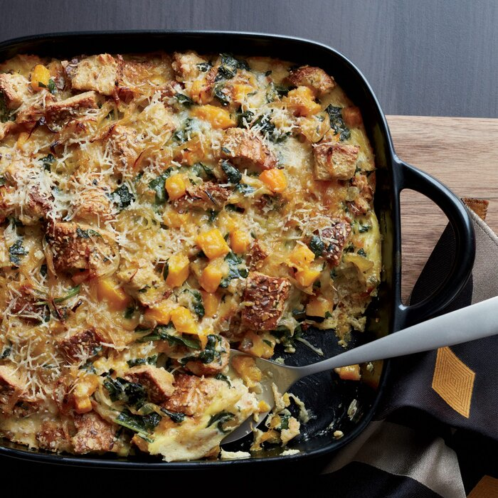 Butternut squash and kale strata with multigrain bread recipe butternut squash and kale strata with multigrain bread recipe zoe nathan food wine forumfinder Image collections