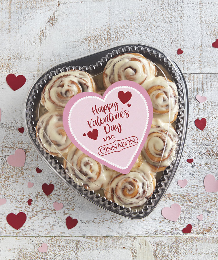 CinnabontoDeliver Heart-Shaped Boxes of Cinnamon Rolls on Valentine's Day