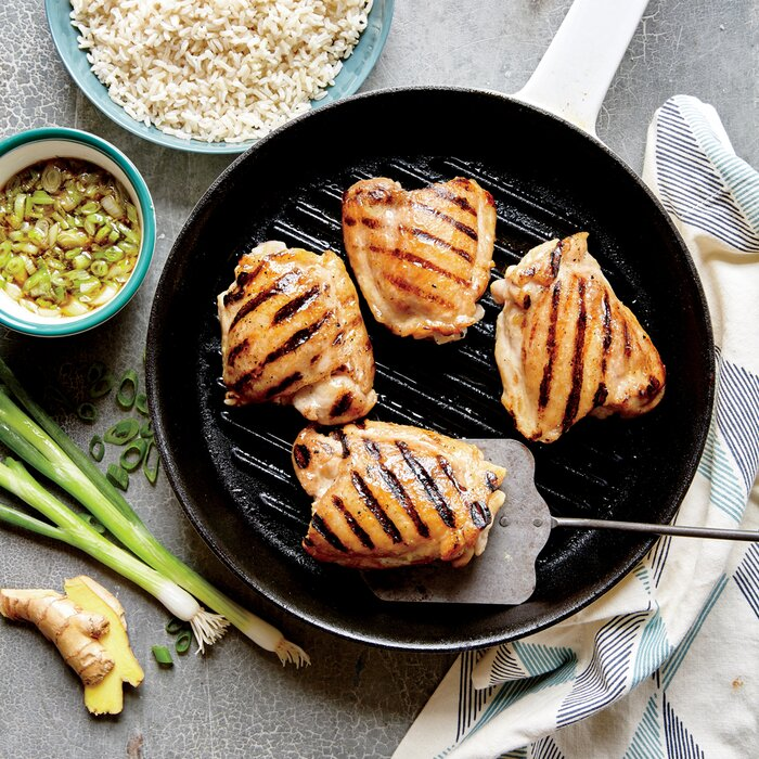 Heart healthy chicken recipes myrecipes grilled chicken thighs with ginger sauce forumfinder Choice Image