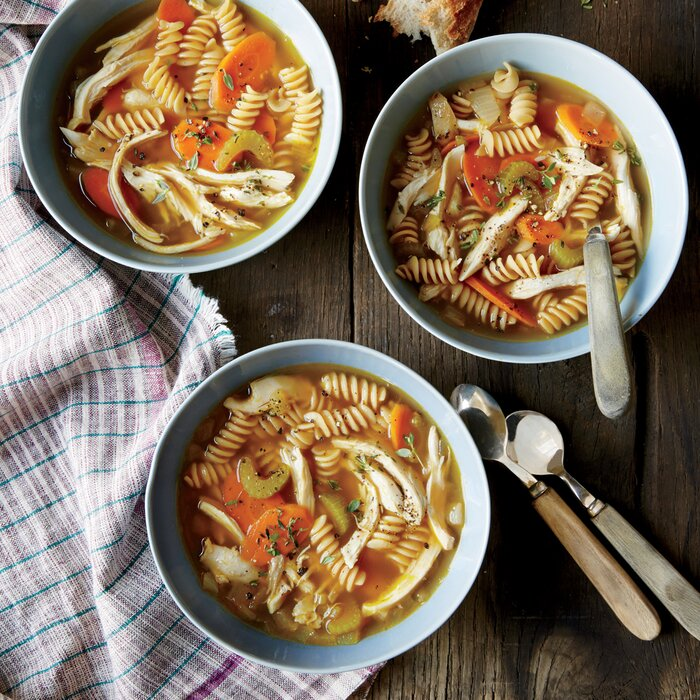 Healthy soup recipes under 300 calories myrecipes homemade chicken noodle soup forumfinder Gallery