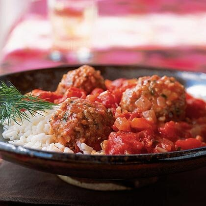 tomato sauce bulgur and lamb meatballs in tomato sauce recipe myrecipes