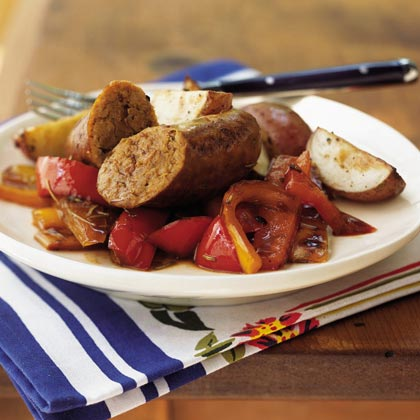 Italian Sausage with Three Peppers