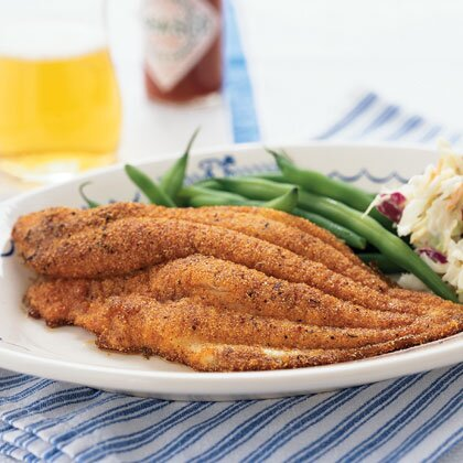Fast and easy new orleans style dishes myrecipes cornmeal crusted catfish forumfinder Image collections