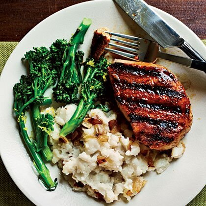 Smoky Pan Grilled Pork Chops