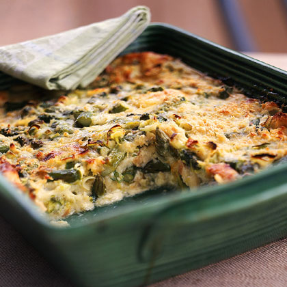 Strata Recipes fontina, asparagus, and leek strata recipe | myrecipes
