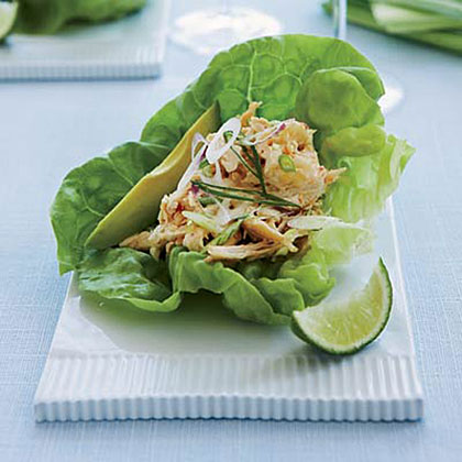 Spicy Asian-Chicken-Salad Lettuce Cups