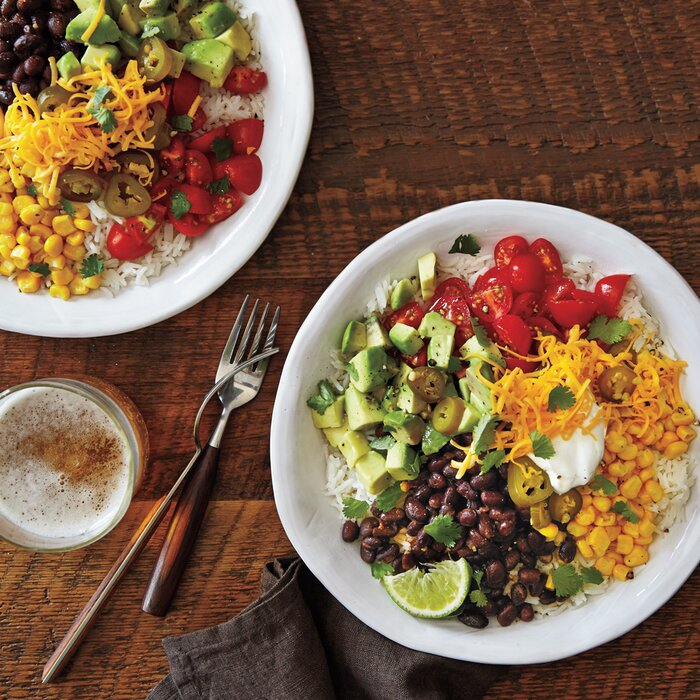 Easy vegetarian meals myrecipes vegetarian burrito bowls forumfinder Choice Image