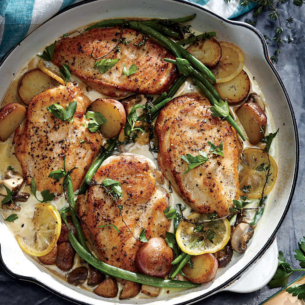 Weeknight Lemon Chicken Skillet Dinner