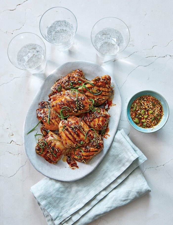 Chicken thighs with ginger sesame glaze recipe myrecipes chicken thighs with ginger sesame glaze forumfinder Images