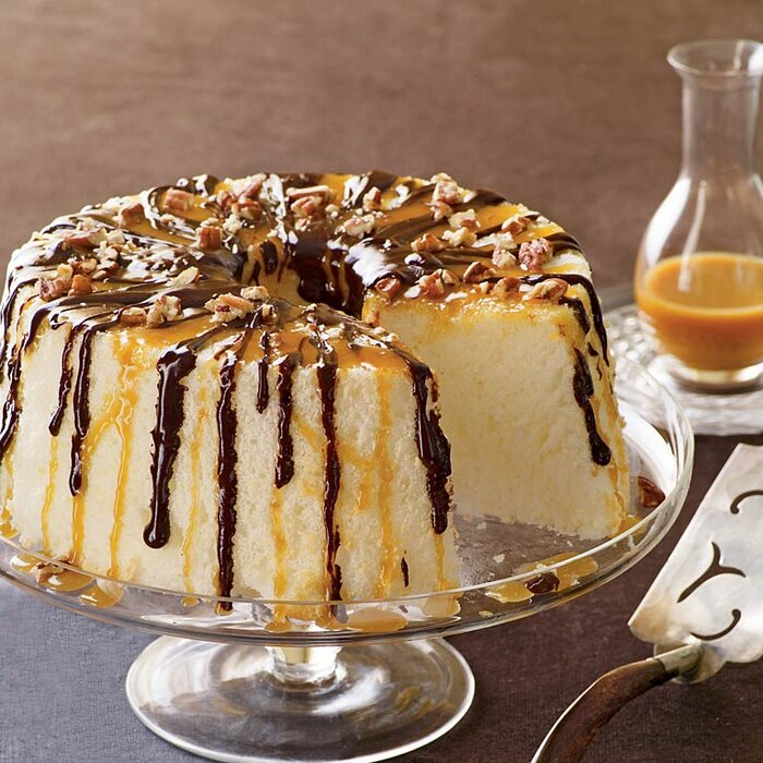 Chocolate caramel angel food cake recipe myrecipes chocolate caramel angel food cake forumfinder Image collections