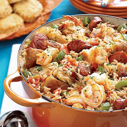 Easy slow cooker jambalaya recipe myrecipes easy slow cooker jambalaya forumfinder Images