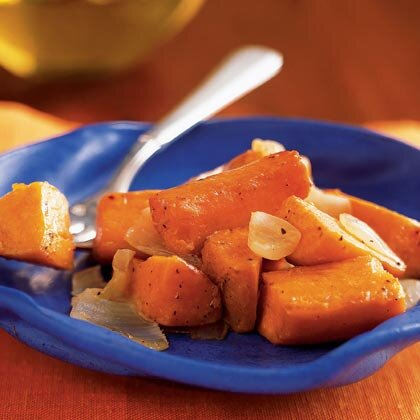 Oven roasted sweet potatoes and onions recipe myrecipes oven roasted sweet potatoes and onions forumfinder Images