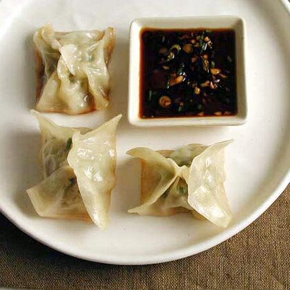 Potstickers with Spicy Dipping Sauce