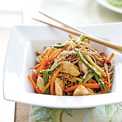 Soba noodles with chicken and vegetables recipe myrecipes soba noodles with chicken and vegetables forumfinder Gallery