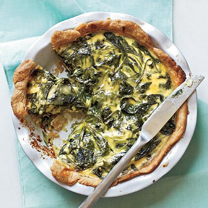 Spinach green onion and smoked gouda quiche recipe myrecipes spinach green onion and smoked gouda quiche forumfinder Choice Image