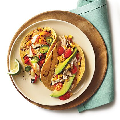 Shredded chicken tacos tomatoes grilled corn recipe 0 myrecipes shredded chicken tacos with tomatoes and grilled corn forumfinder Image collections