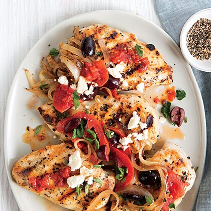 Greek style chicken breasts recipe myrecipes greek style chicken breasts forumfinder