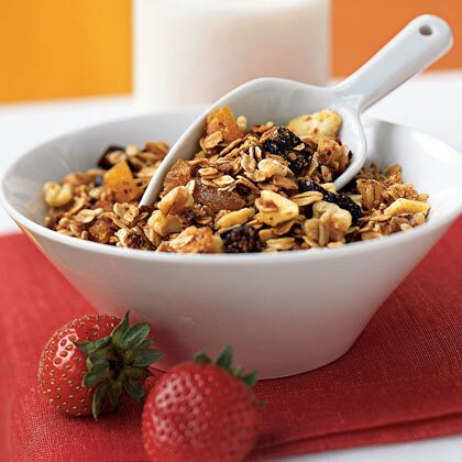Three grain breakfast cereal walnuts dried fruit recipe myrecipes three grain breakfast cereal with walnuts and dried fruit ccuart Choice Image
