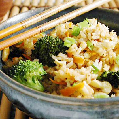 Fried rice with broccoli and eggs recipe myrecipes fried rice with broccoli and eggs ccuart Image collections
