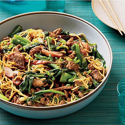 Asian noodles with roast pork recipe myrecipes asian noodles with roast pork forumfinder Choice Image