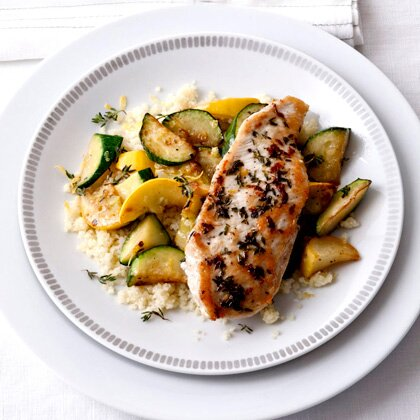 Sauted zucchini with lemon thyme chicken recipe myrecipes sauted zucchini with lemon thyme chicken forumfinder Choice Image