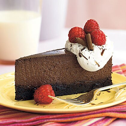 Raspberry Chocolate Truffle Cheesecake