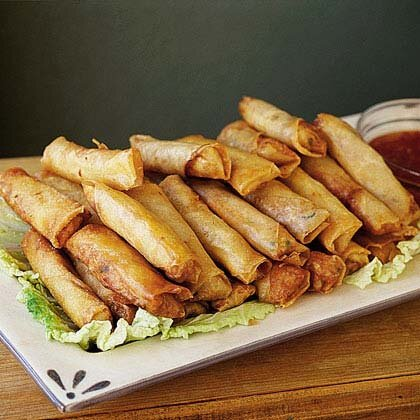 Shanghai spring rolls with sweet chili sauce recipe myrecipes shanghai spring rolls with sweet chili sauce forumfinder Image collections