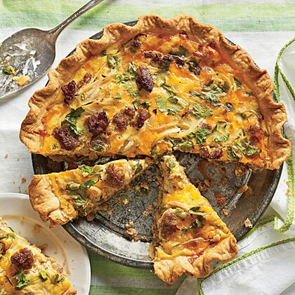 Cheese and sausage quiche recipe myrecipes cheese and sausage quiche forumfinder Gallery