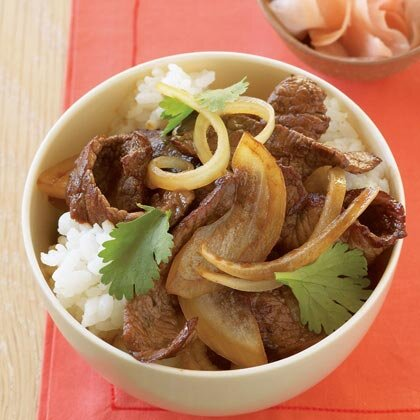 Japanese beef bowl recipe myrecipes japanese beef bowl forumfinder Image collections