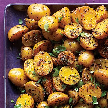 Indian potatoes with black yellow mustard seeds recipe myrecipes indian potatoes with black and yellow mustard seeds forumfinder Image collections