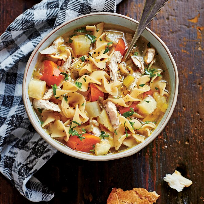 Soulful chicken soup recipe myrecipes soulful chicken soup forumfinder Images