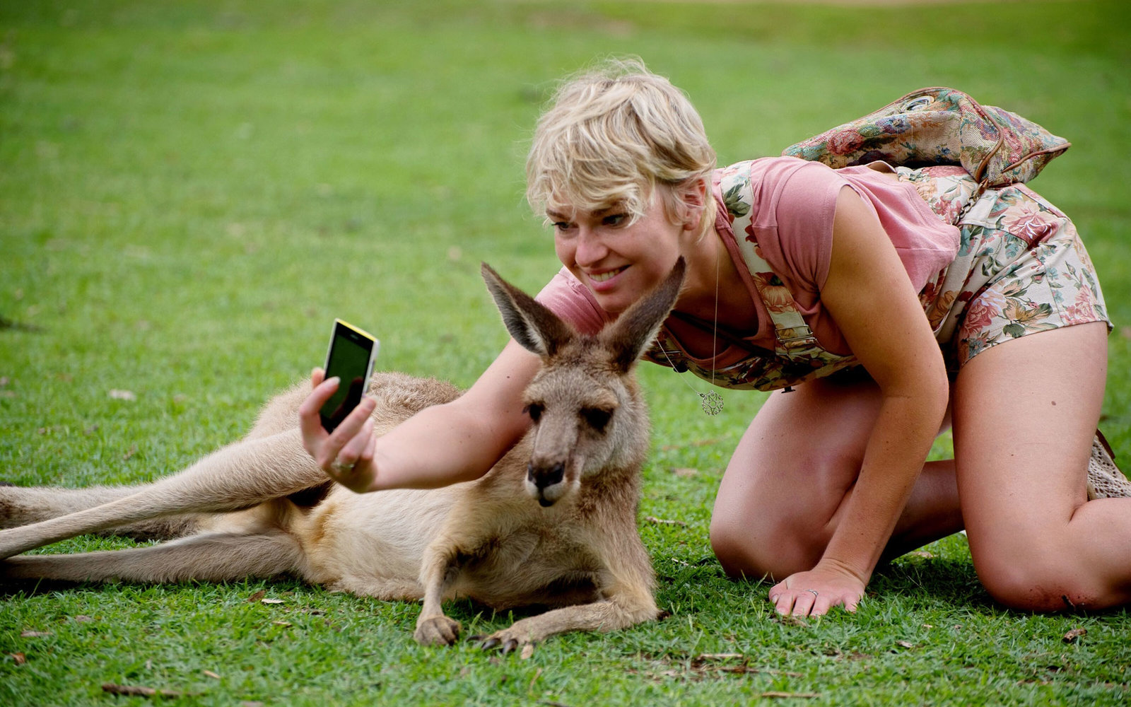 Selfie with Kangaroo