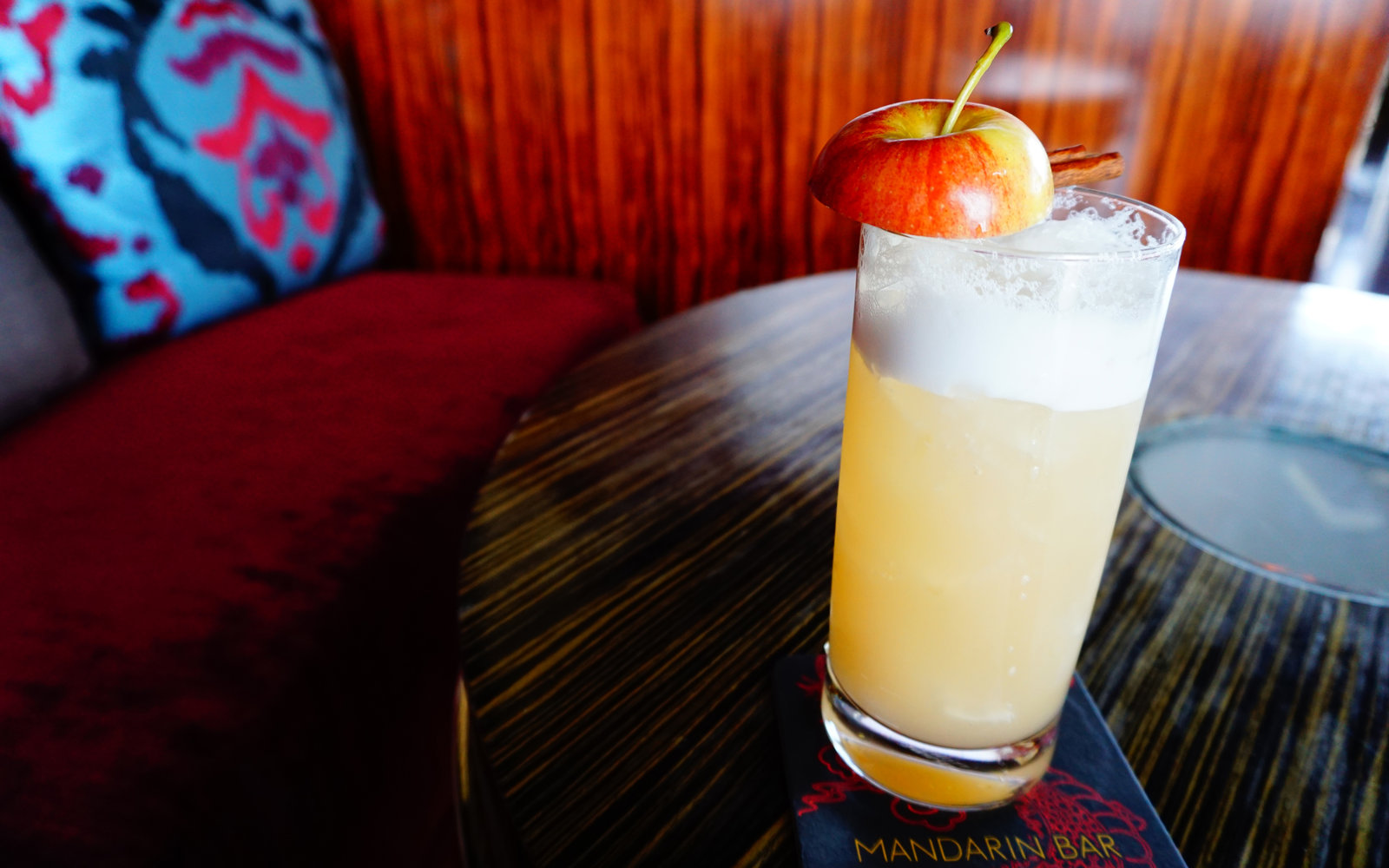 Spiced Apple Fizz at Mandarin Oriental, Las Vegas