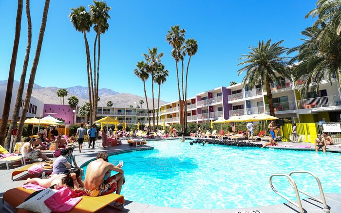 Palm Springs Ca April 14 A General View Of The Atmosphere At