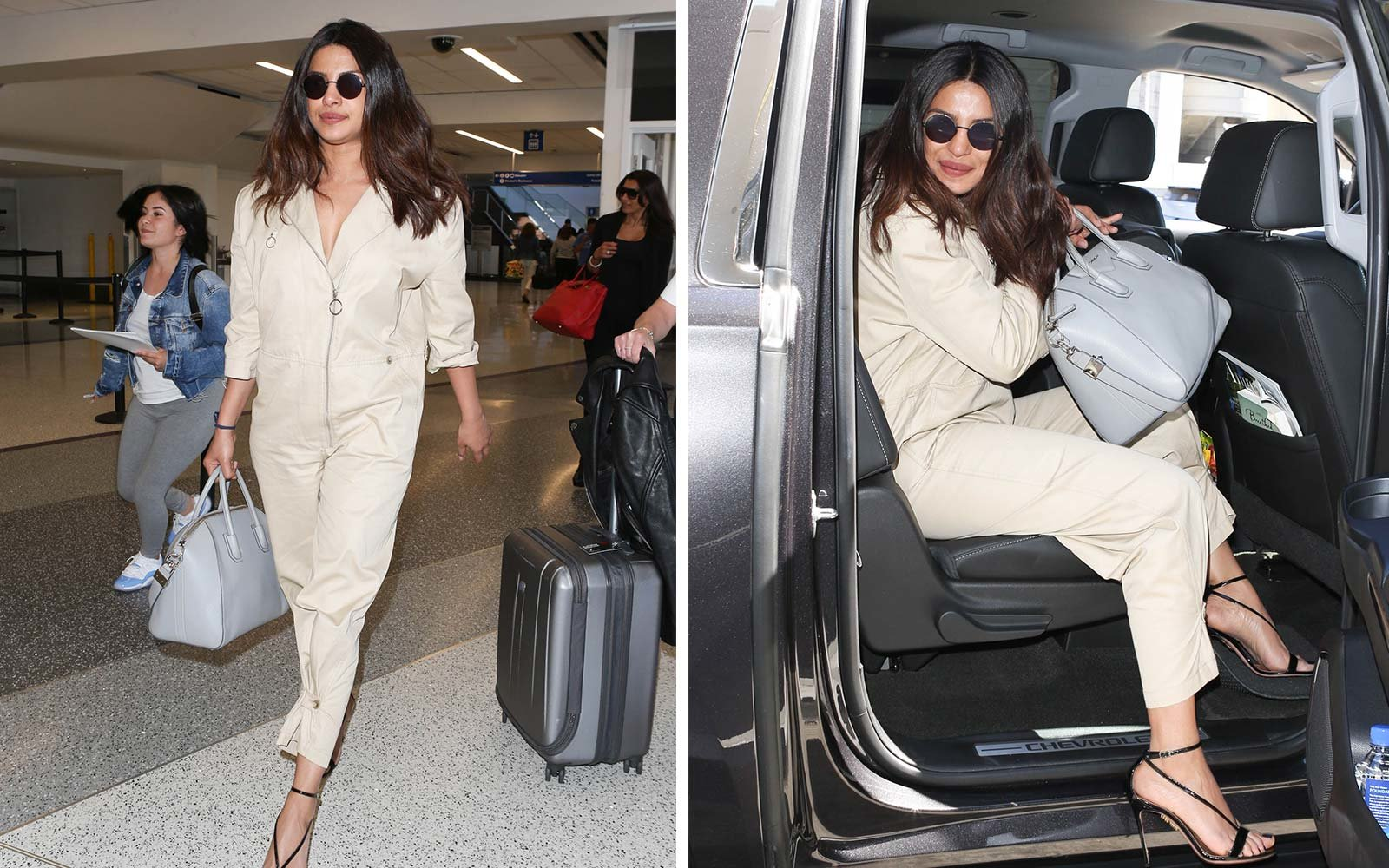 Image result for Gray Givenchy Antigona Tote Bag goatskin priyanka chopra