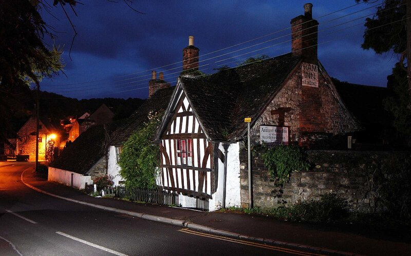 ancient ram inn england haunted