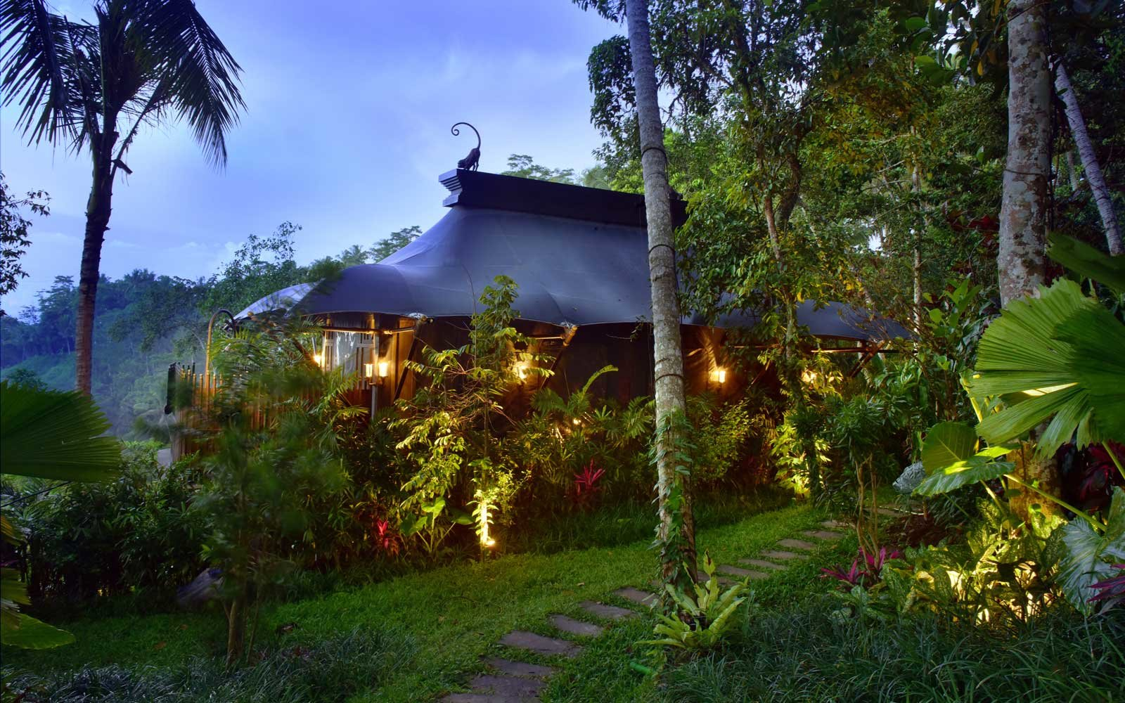 Luxury Tent at the Capella Ubud Hotel in Bali, Indonesia